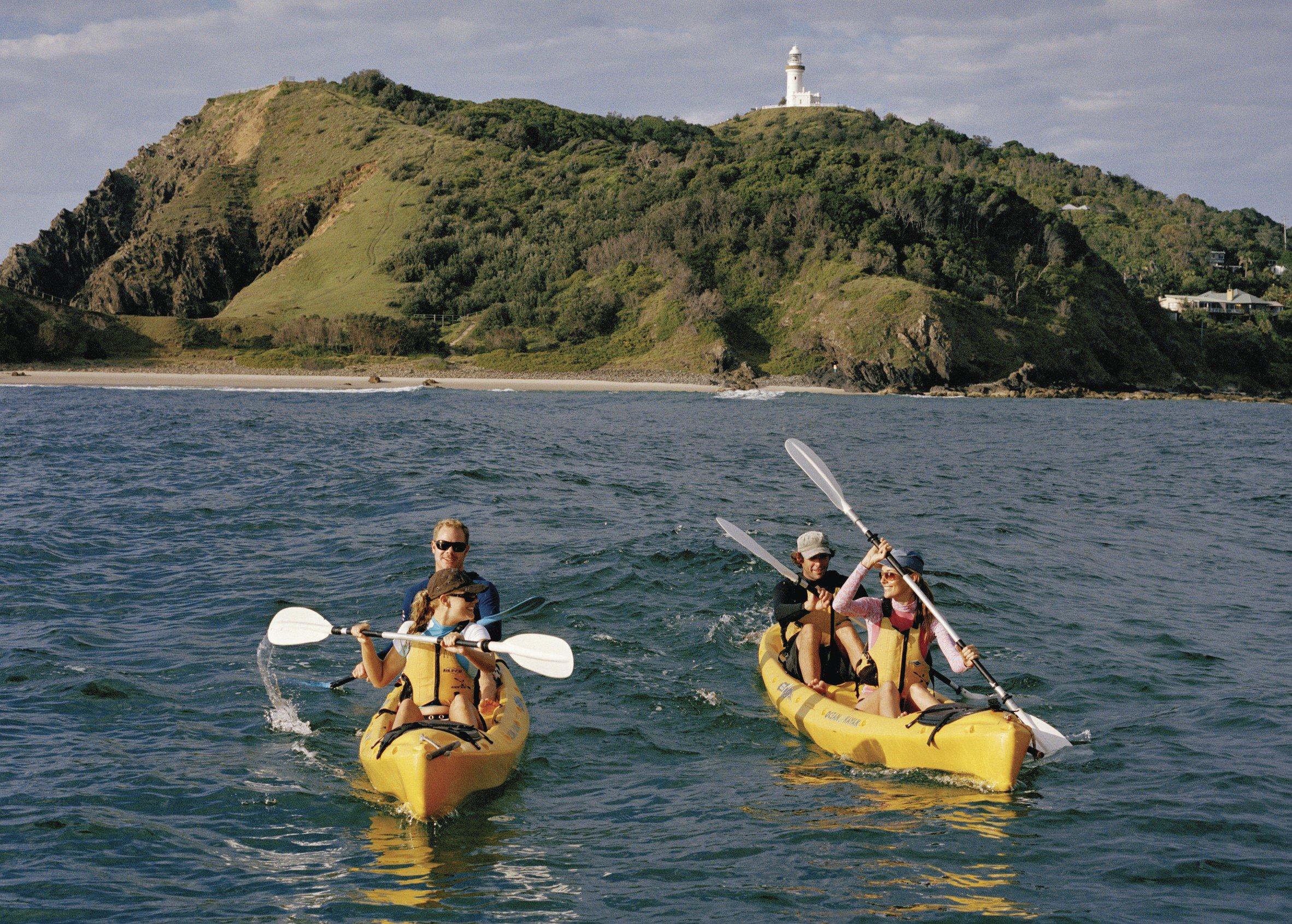 kajakken op zee byron bay australie
