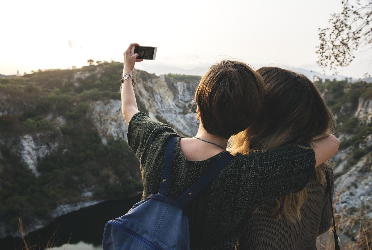 Selfie nemen tijdens een working holiday reis in Australië