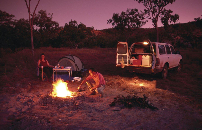 Goedkoop kamperen in de outback tijdens een working holiday reis naar Australië.