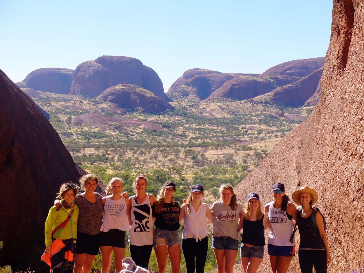 Een groepsreis door de outback van Australië.