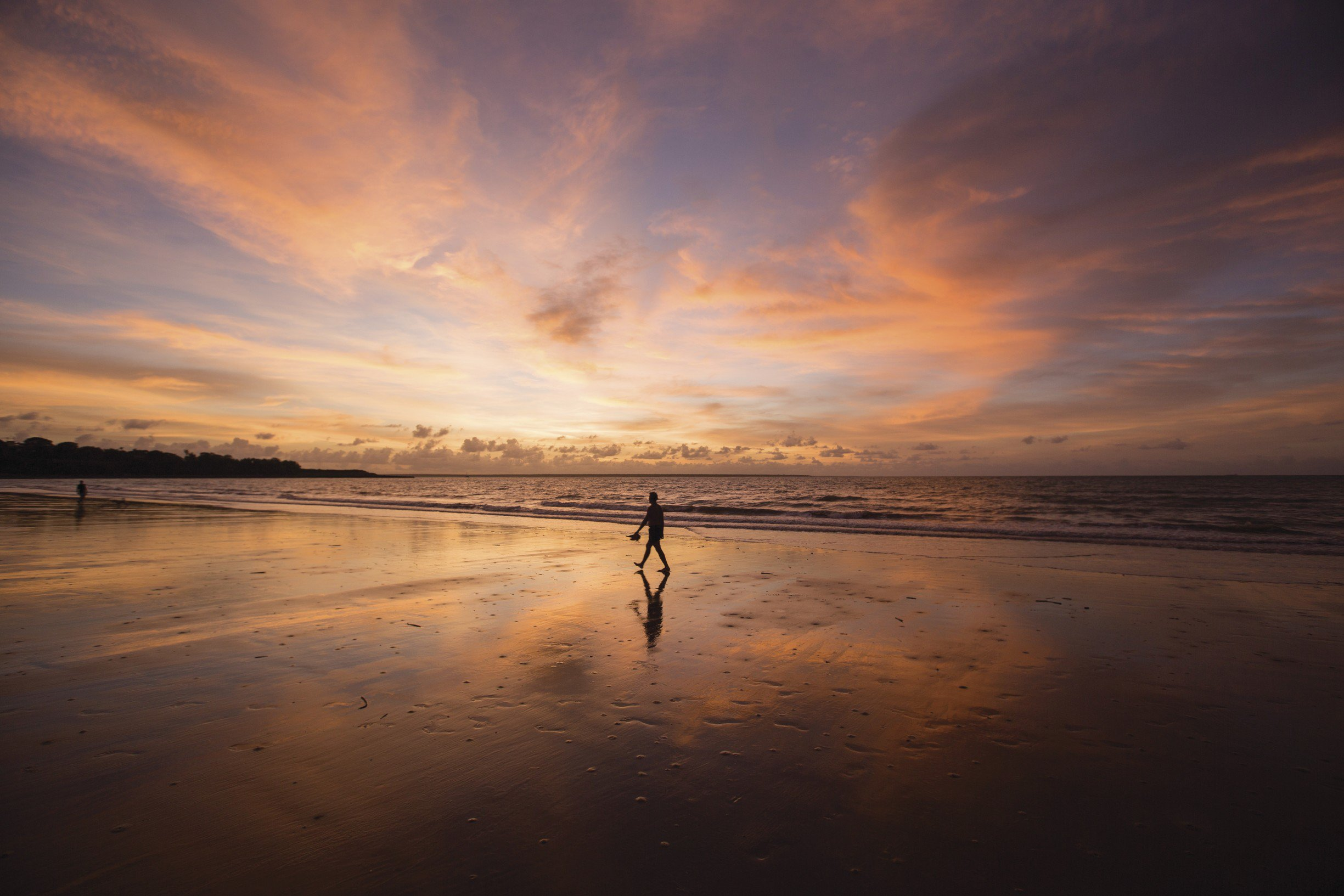 Sonnenuntergang am Mindil Beach Markt in Darwin
