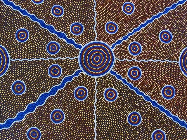 Aboriginal Kunst in der Kunstgalerie im Northern Territory