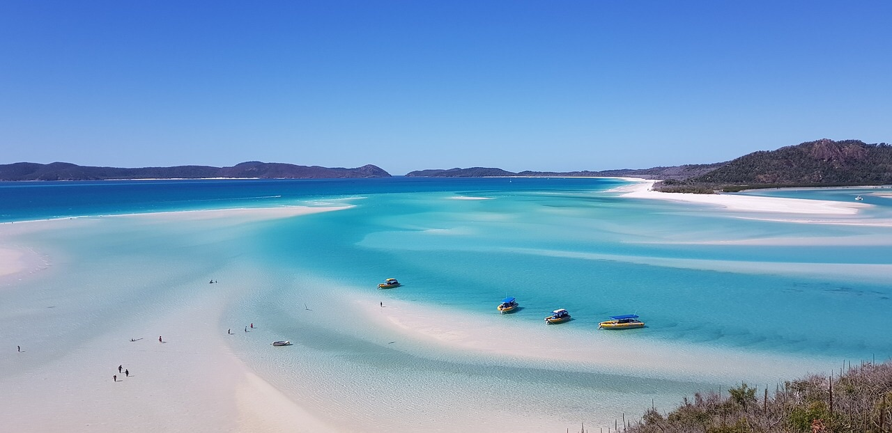 Whitsundays eilanden strand oostkust australie