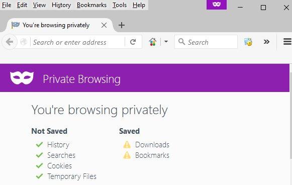Suche nach günstigen Flugtickets nach Australien, indem du inkognito auf Firefox suchst.