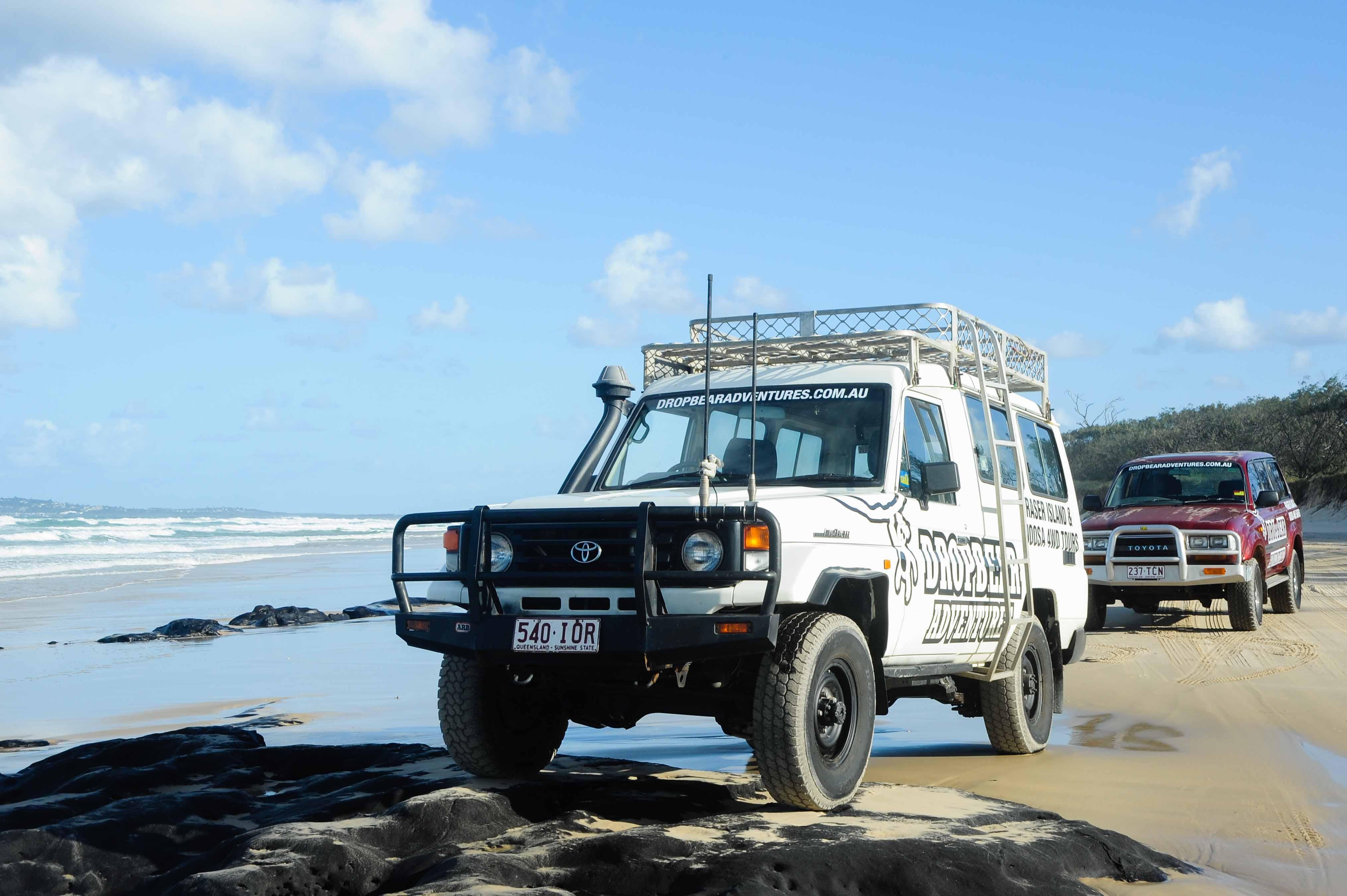 Met een internationaal rijbewijs kun je vrij rijden in Australië ook op Fraser Island.