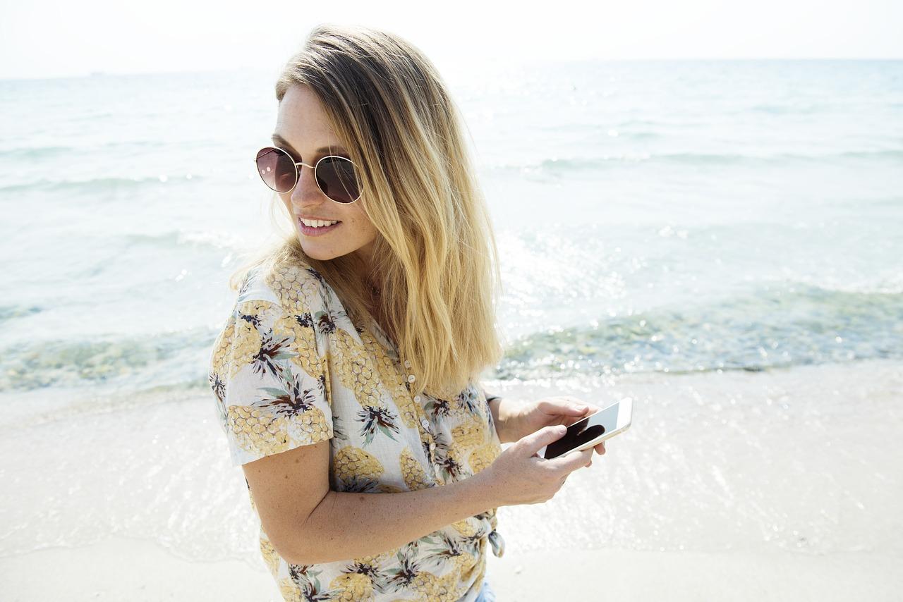 Selfie nemen tijdens een working holiday reis in Australië.
