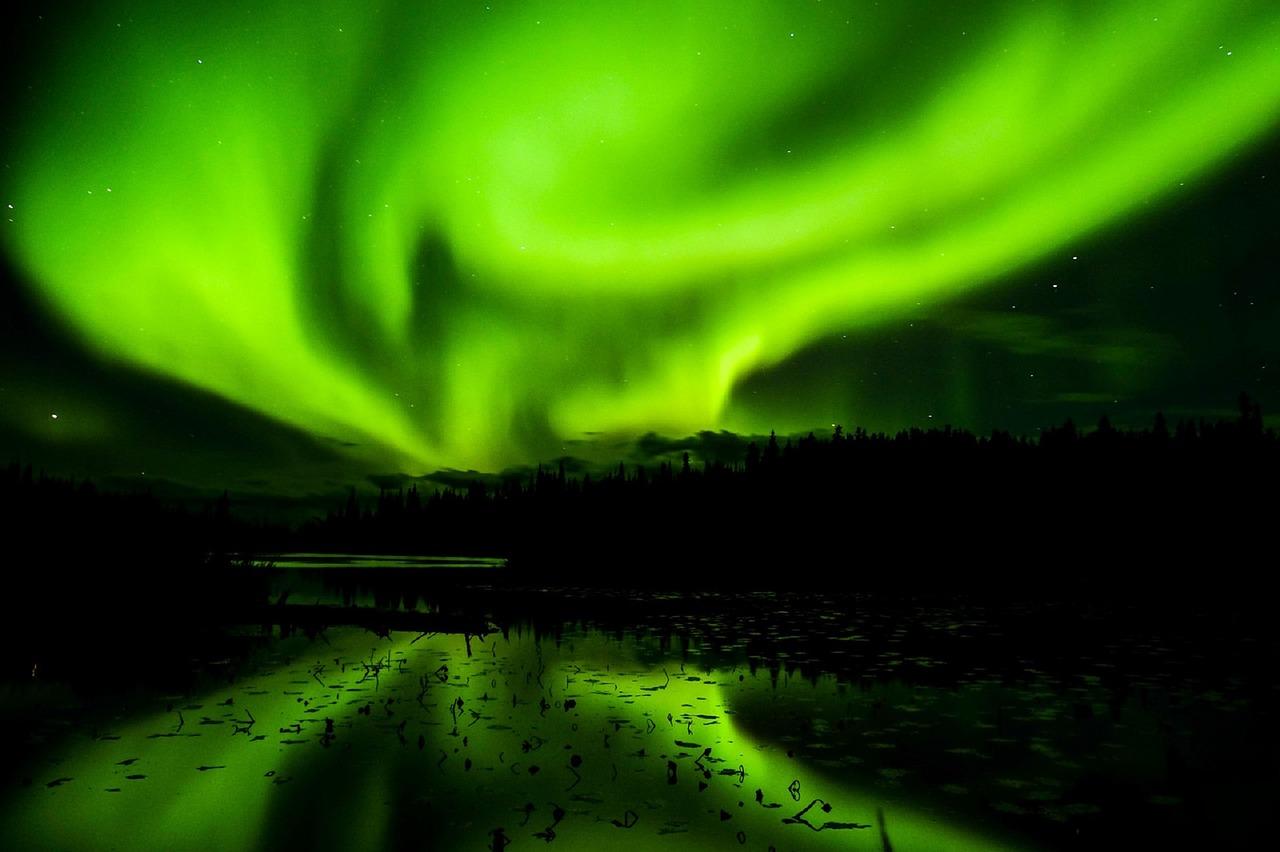 Het noorderlicht zien in Whitehorse Canada